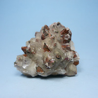 Natural mineral calcite pyrite associated minerals in rocks mineral specimen collection of teaching science