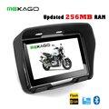 Бесплатная Доставка 4.3 дюймов Обновление 256 МБ RAM мотоцикл GPS, навигация gps автомобиля, водонепроницаемый, 8 ГБ встроенной памяти, Bluetooth, BT + КАРТЫ