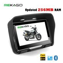 Free Shipping  4.3 inch Updated 256MB RAM motorcycle GPS,car gps navigation, waterproof ,8GB internal memory,Bluetooth,BT+MAPS