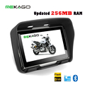 O Envio gratuito de 4.3 polegada Atualizado 256 MB RAM GPS da motocicleta, carro de navegação gps, à prova d' água, 8 GB de memória interna, Bluetooth, BT + MAPAS