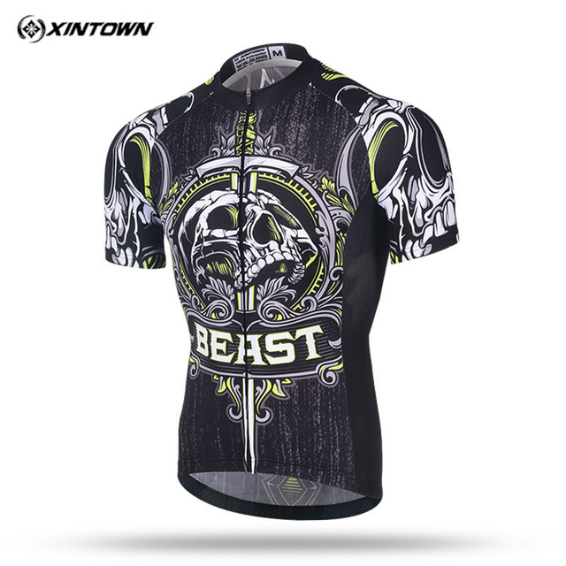 Xintown 2018 Skull Short Sleeve Cycling Jersey Men mtb Bike Jersey Shirt  Racing Sport Bicycle Cycling Clothing Maillot Ciclismo 42c841452