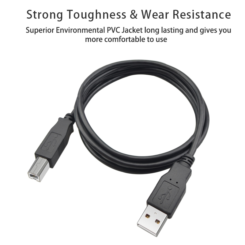 USB Printer Cable Type B Male to A Male USB 3 0 2 0 Cable for Canon Epson HP ZJiang Label Printer DAC USB Printer Micro Plug in Plug Connectors from Consumer Electronics