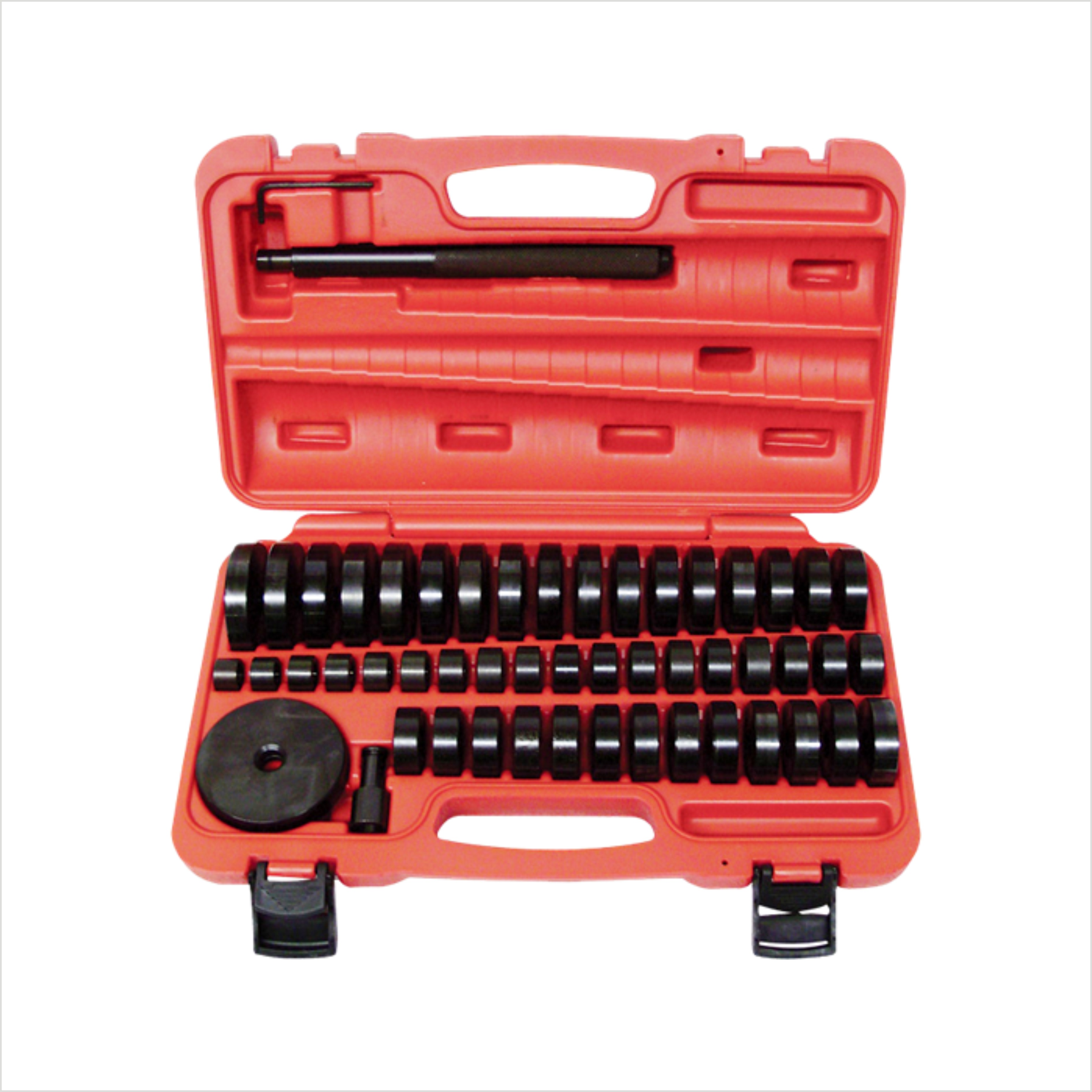 51Pc Custom Bushing Bearing Seal Driver Push Press Disc Tool Set 18-65mm 10pc bearing race seal driver tool master set with storage case wheel axle new