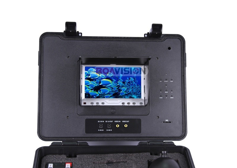 50 м кабель для подводной охоты Камера 12Pcs светодиодные лампы 7 дюймов Цвет ЖК-дисплей DVR Системы Рыболокаторы Камера Поворот 360 градусов до 16 Гб