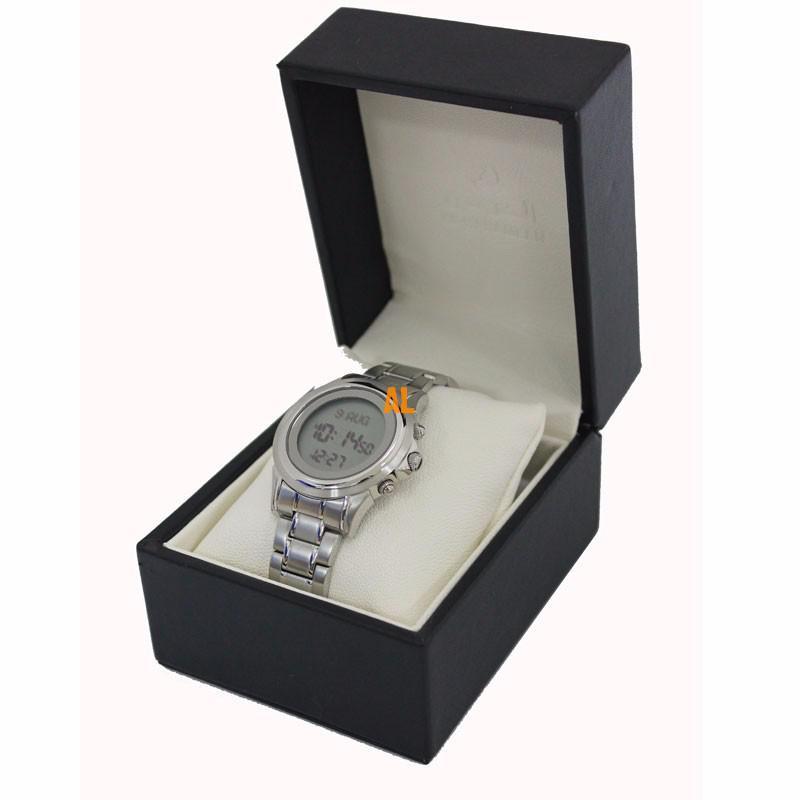 Azan Watch  Islamic Qibla Watch With Prayer Compass Muslim Watch Best Gifts, Sliver 1pc