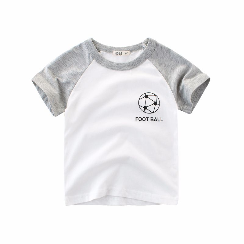 Kids Boys T Shirts 2018 Summer Boys And Girls Short Sleeve White Tshirts Boys Sport Tee Children Clothes