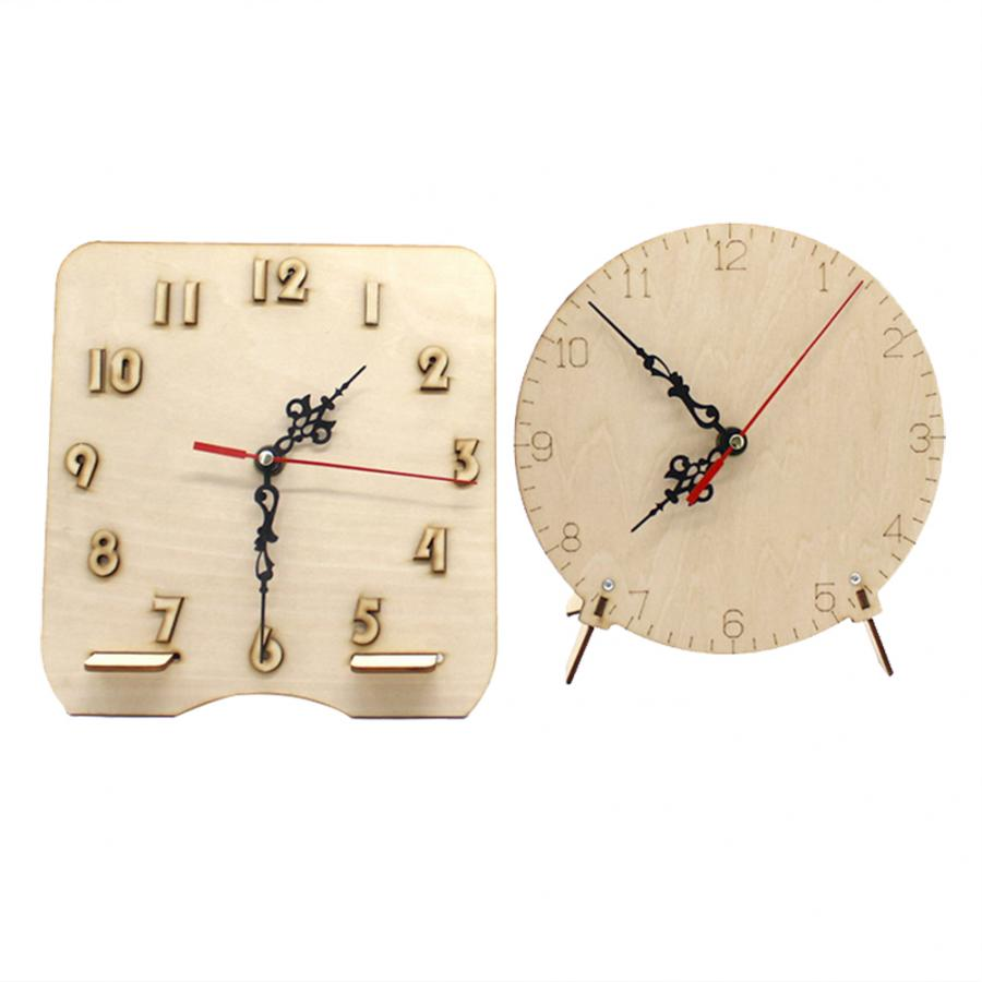 Us 4 35 29 Off Diy Handmade Wooden Clock Children Assembled Educational Toy Gift Wooden Clock Assembly Kit In Model Building Kits From Toys
