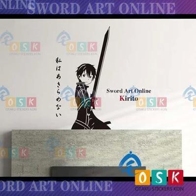 Dctal Japanese Cartoon Fans Sword Art Online Sao Kirigaya Kazuto Vinyl Wall Stickers Decal Decor Home Decorative 181 Harmonious Colors Home Decor
