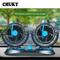 CHUKY Double Head Auto Air Cooler Cars Ventilator For Nissan Qashqai J11 Juke Tiida Renault megane 2 3 duster Mazda Accessories