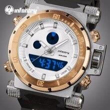 Мужские часы от ведущего бренда, роскошные золотые большие военные часы, мужские аналоговые цифровые часы для мужчин, Авиатор, спортивные часы, мужские часы