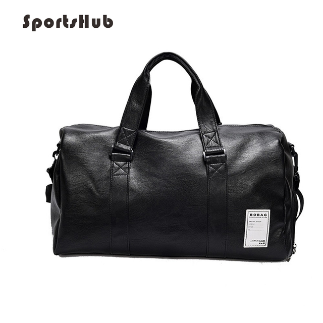 95789c78d6 SPORTSHUB Top PU Leather Men s Sports Bags Gym Bags Classic Sports HandBag  Fitness Travel Bags Workout