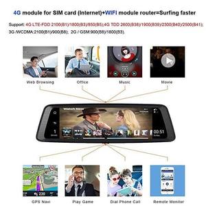 "Image 5 - WHEXUNE 10 ""اللمس ADAS أندرويد 5.1 كامل 1080P كاميرا عدادات السيارة 4G مسجل فيديو مرآة الرؤية الخلفية مع كاميرا DVR 8 الأساسية 4 قناة"