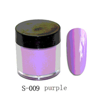 10gram S-009 Purple Dip Powder Manicure Trend Dipping Powder Easy Faster Dry Than Traditional Acrylic Nail Systems  (Color 09)