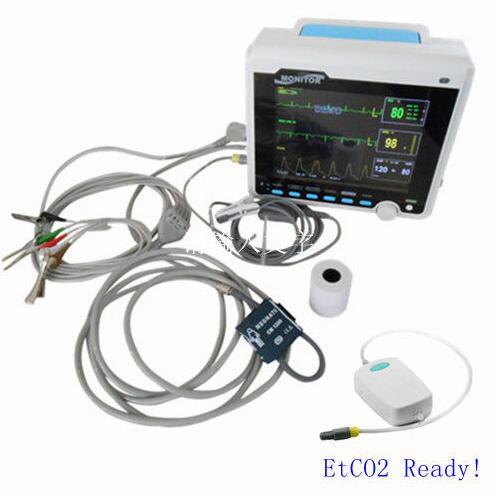 CE Approved Contec CMS6000-VET Patient Monitor w/ CO2, NIBP+SPO2+RESP+TEMP+ECG+ETCO2 ce vet veterinary icu patient monitor 6 parameters contec cms6000 etco2 printer