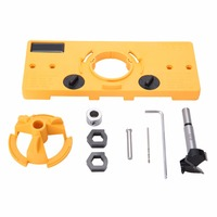 35MM Hinge Drilling Guide Woodworking Hole Locator Hole Jig Drilling for Carpenter Woodworking DIY Hand Tools Set