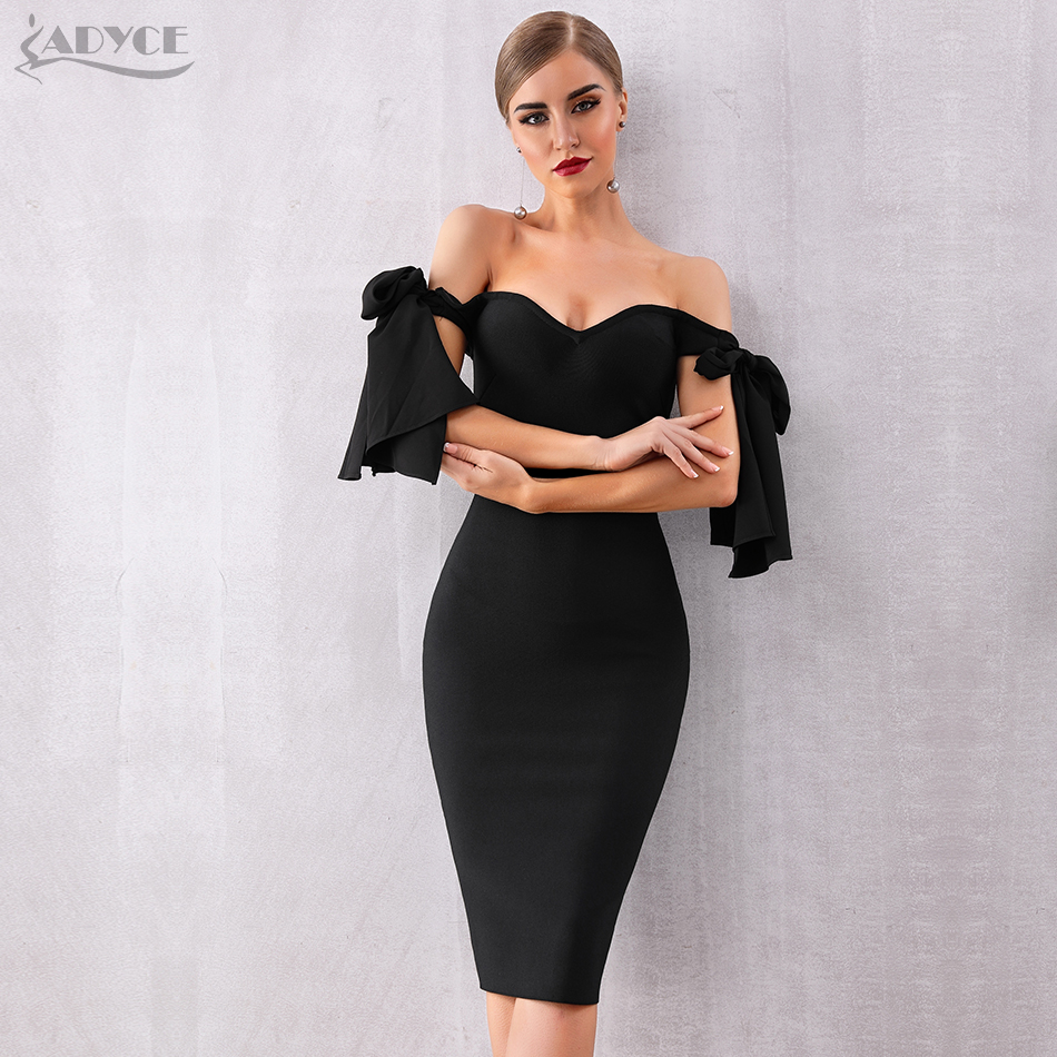 Womens Ladeis Celebs Zip Back Off Shoulder Bardot Neck Crepe Bodycon Party Dress