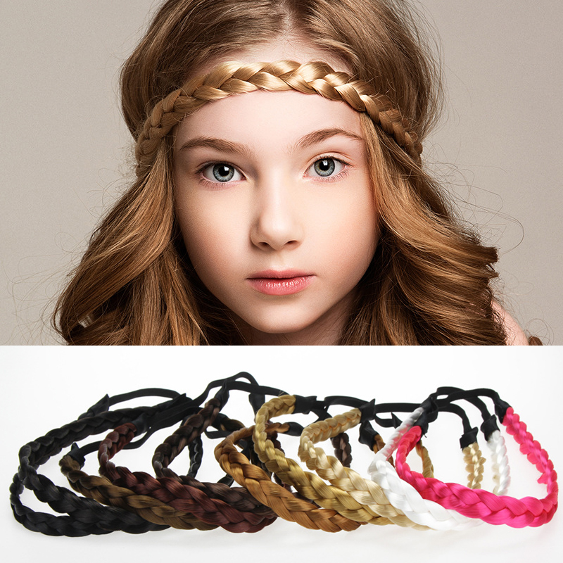 RuoShui 1 PC Fashion Women Headband Elastic Hair Band Solid Wig Hair Accessories Braid Headwear Adjustable Size