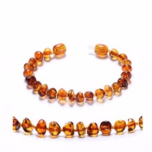 Baltic Amber Teething Bracelet for Baby - Simple Package - Lab-Tested Authentic - 2 Sizes - 10 Colors baltic amber bracelet for adult simple package lab tested authentic 2 sizes 10 colors