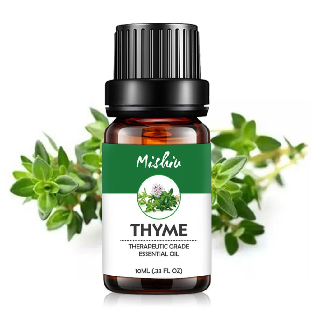 Thyme essential oil 10ml pure natural sterilization Relax the skin Treatment of acne Dandruff aromatherapy for aromatherapyThyme essential oil 10ml pure natural sterilization Relax the skin Treatment of acne Dandruff aromatherapy for aromatherapy