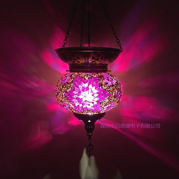 Date E14 Turquie coutumes ethniques main lampe romantique café restaurant bar arbre Pendentif Lumière bar Pendentif Lumière
