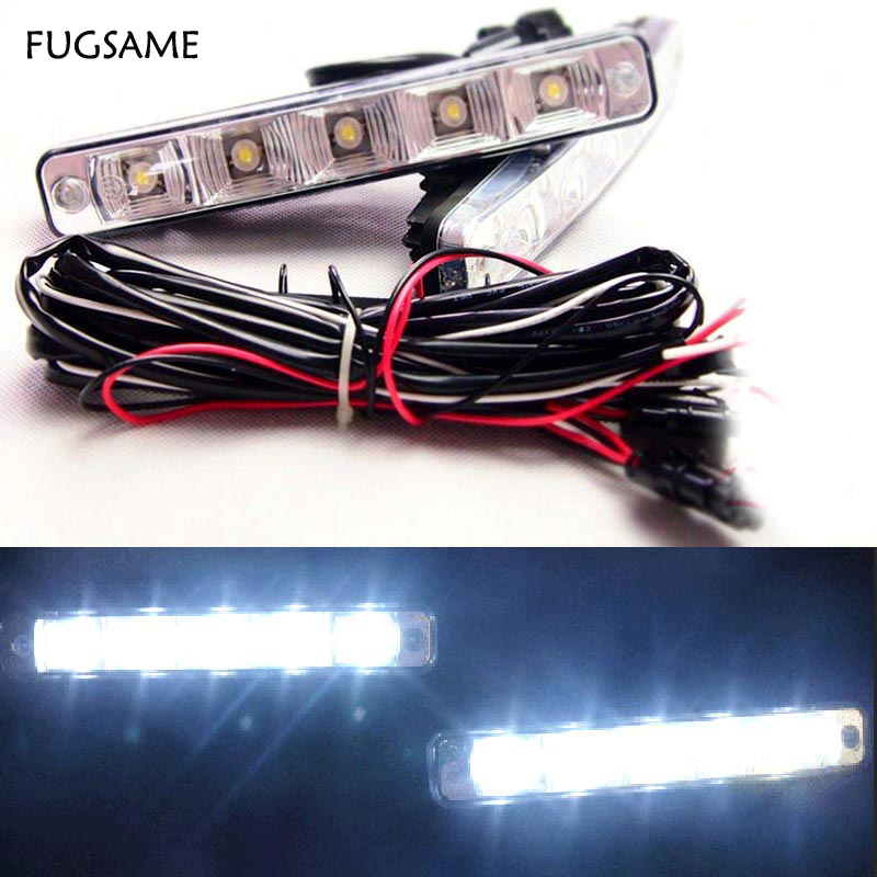 FUGSAME 10W LED Daytime Running Light Aluminium <font><b>E4</b></font> DRL Waterproof Fog Parking Auto Car Driving Drl <font><b>Lamp</b></font> <font><b>12V</b></font> Truck Motorcycle image