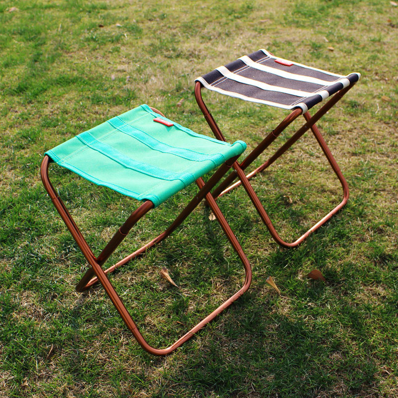 VILEAD 2 colors Portable Camping Stool Ultralight Folding Chair Aluminium Outdoor Picnic Beach Hike Fishing Foldable 22*23*28cm-in Camping Stools from Sports & Entertainment