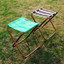 VILEAD 2 colors Portable Camping Stool Ultralight Folding Chair Aluminium Outdoor Picnic Beach Hike Fishing Foldable 22*23*28cm