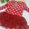 Meninas Natal romper do bebê macacões de bebê macacão de algodão recém-nascidos calcinha bebê roupa do bebê de manga longa frete grátis MC002