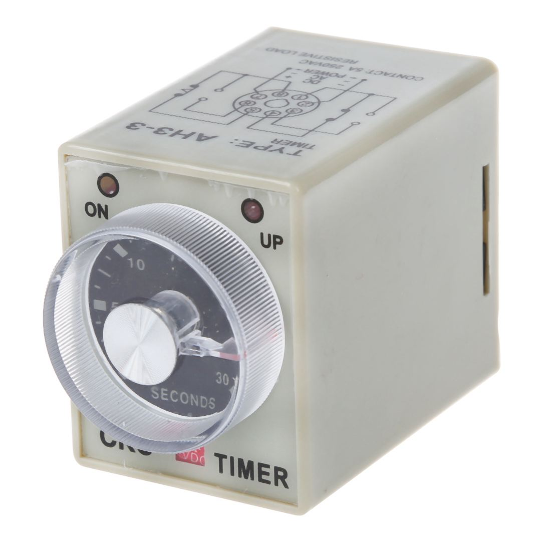 DC 12V 0-30 Seconds 30s Electric Delay Timer Timing Relay DPDT 8P w Base zys48 s dh48s s ac 220v repeat cycle dpdt time delay relay timer counter with socket base 220vac