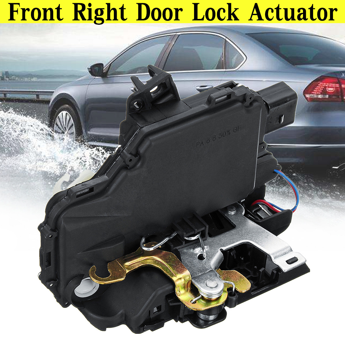 8 Pin Front Right Door Lock Latch Catch Actuator For VW GOLF MK4 PASSAT B5 3B1837016A Plastic/Metal 16x8x12cm Type Protective