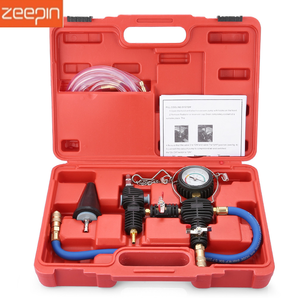 Auto Coolant Vacuum Kit Cooling System Radiator Set Refill and Purging Tool Vacuum Refill Kit for Automotive Cooling SystemAuto Coolant Vacuum Kit Cooling System Radiator Set Refill and Purging Tool Vacuum Refill Kit for Automotive Cooling System