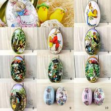 10 Types Easter Egg Vintage Bunny Rabbit Tin Boxes painted Basket Candy Accessor