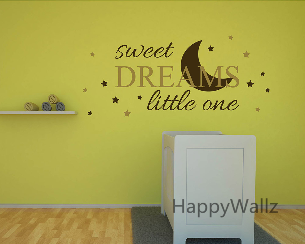 Sweet Dreams Little One Baby Nursery Quotes Wall Sticker DIY ...
