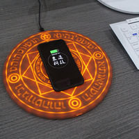 Novelty Magic Array Wireless Charger 5W/10W Qi Wireless Universal Fast Charger Charging Pad for iPhone X Samsung Smart phone P15