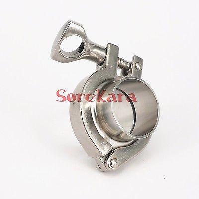 Ein Satz 63mm O/d Sanitär Tri Clamp Weld Ferrule Silikondichtung 304 Edelstahl Stahl Tri Clamp
