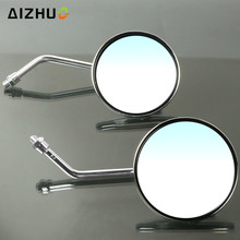 8/10 Mm Motorcycle Rearview Mirrors Stainless Steel Motor Mirror For Ducati MONSTER 696 796 821 820 Diavel Honda PCX125 PCX150 new stripe rearview side mirrors stripe rearview mirrors for ducati monster 696 796 1200 s 821 889 1200 1199 1099 monster 696