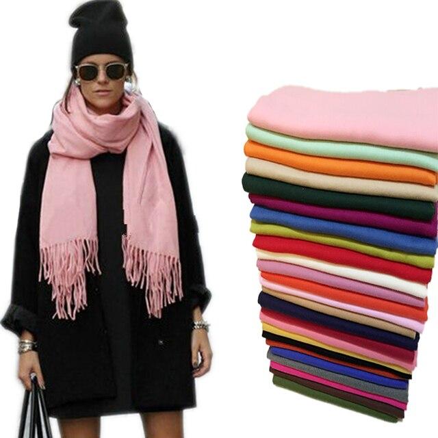 Women Fashion Warm Scarves 2017 Autumn Winter Scarf Wrap Shawl Blanket Scarf Long Cashmere Scarf Tassels Outwear Shawl 16 Colors