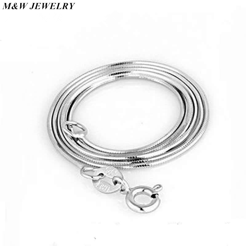 M&W JEWELRY 2017 High quality fashion hot sell snake chain 925 sterling silver ladies`snake necklaces jewelry gift wholesale