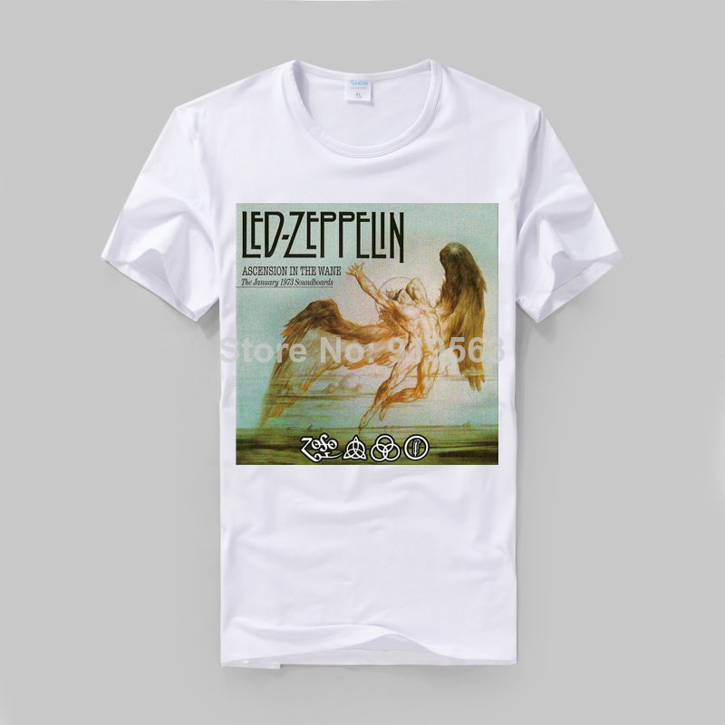 rock muisc swan song classic poster printing high quality modal cotton slim style vintage fashion tee image