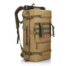 50L LOKALNE LION Military Tactical Plecak Camping Plecak Torba Na Ramię męska piesze wycieczki Plecak plecak mochila feminina