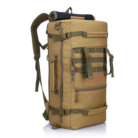 leao local 50l militar tatico mochila caminhadas acampamento daypack bolsa de ombro dos homens caminhadas