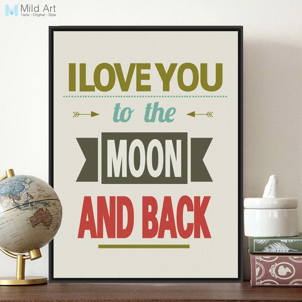 Love Quotes On Canvas Minimalist Retro Wedding Decoration Typography Love Quotes A4