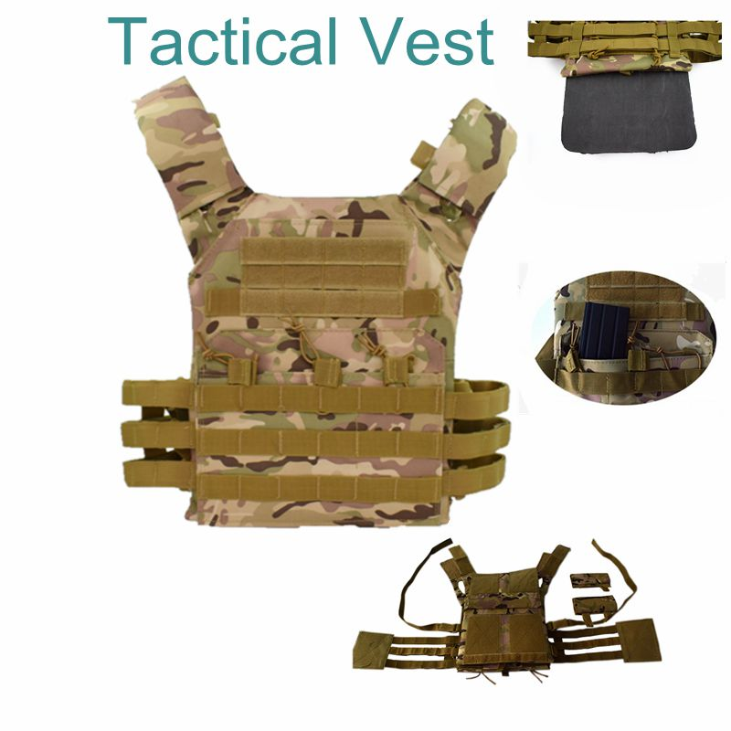 Tactical Vest Military Body Armor Plate Carrier Simplified Version Military Vest Molle Armor Outdoor Hunting Airsoft Vest