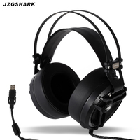 USB 7.1 Gaming Headset Wired Original Professional PC Stereo Lighting fone de ouvido with Microphone for Gamer Boy Free Shipping