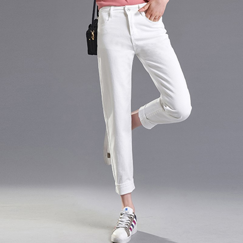 JUJULAND 2018 Vintage Mom Fit High Waist   Jeans   Elastic Femme Women Washed Black Denim Skinny   Jeans   Classic Pencil Pants