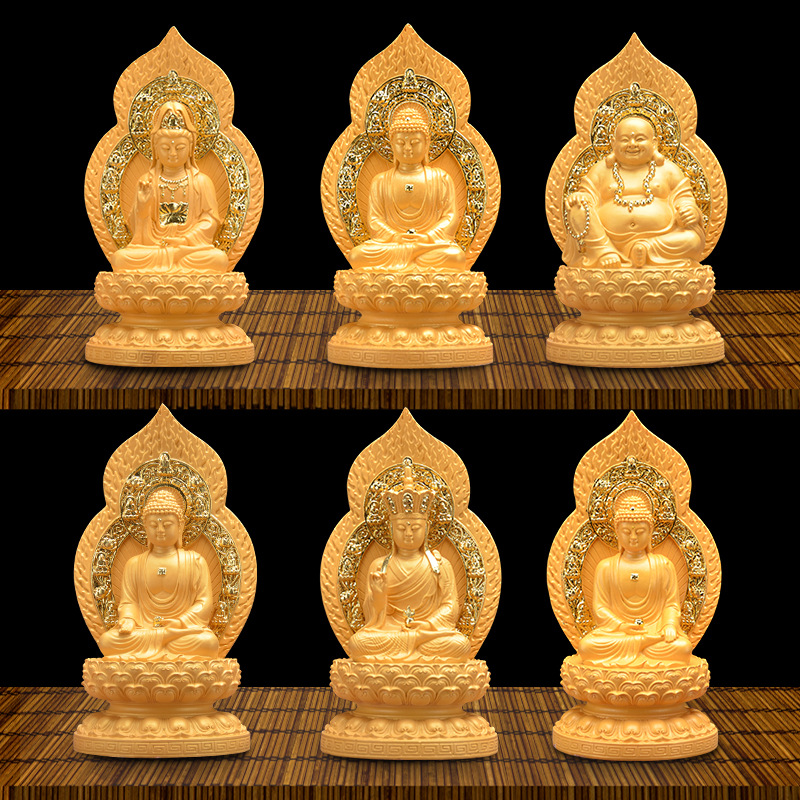 Statues de bouddha Rongsha Jin Guanyin, rois tibétains, artisanat en résine, fournitures bouddhistes, ornements chinois décoration de la maison