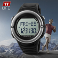 TTLIFE 1111 Sport Watches Heart Rate Monitor Watch Men Digital LED Pedometer Watch Step Counter Women Clock Calories Waterproof