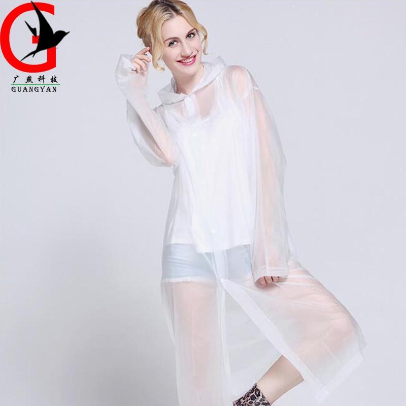 Poncho Korean Pvc Transparent Fashion Frauen Regenmantel WDI29YeEH
