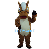 New Professional Brown Horse Mascot Costume Unisex Adult Size Fancy Dress