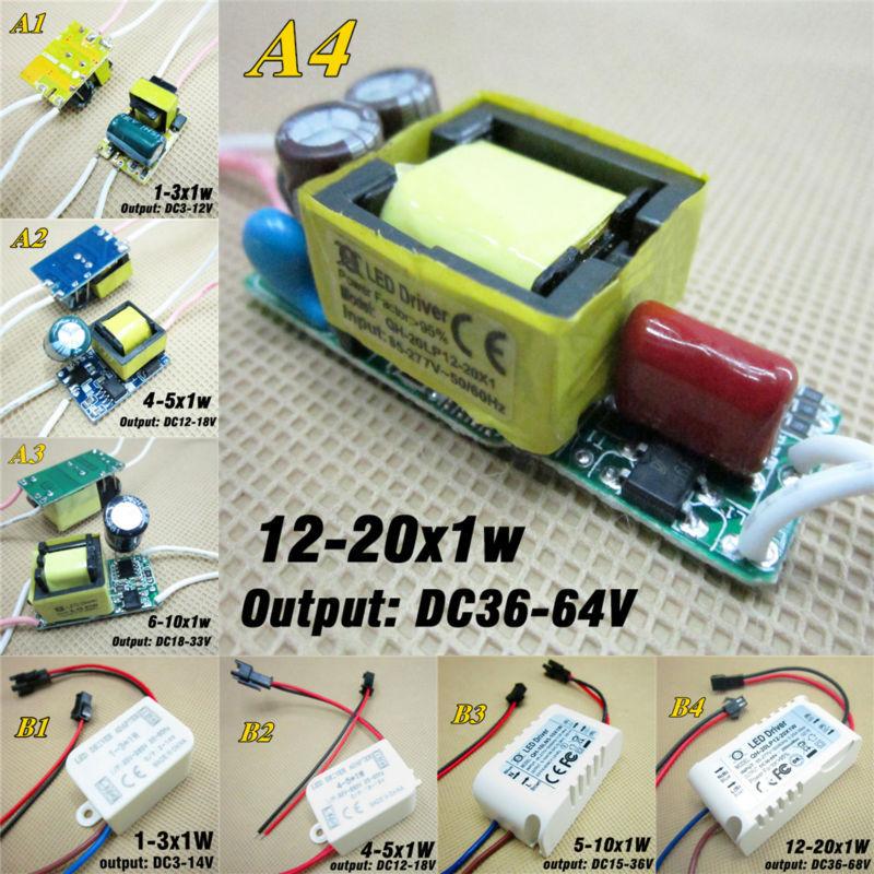 10pcs 1w 20w 300ma Led Driver Constant Current Lighting
